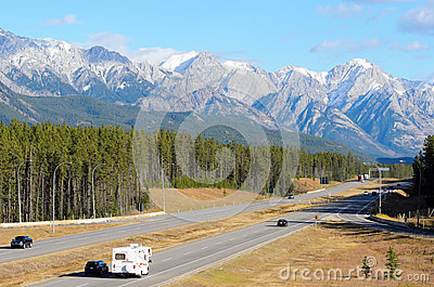 Trans Canada Highway Editorial Stock Image