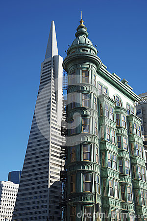 Free Transamerica Pyramid And Sentinel Building, San Francisco Royalty Free Stock Photo - 33500845