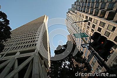 Transamerica Pyramid from below Editorial Stock Photo