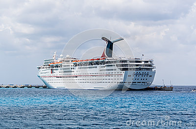 Transatlantic in Cozumel Mexico Editorial Image