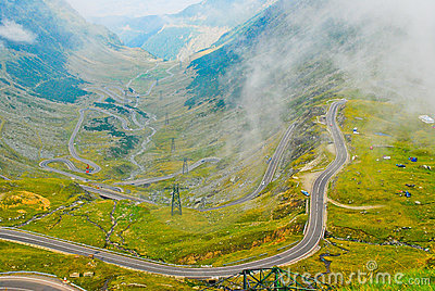 Transfagarasan road in the Carpathians