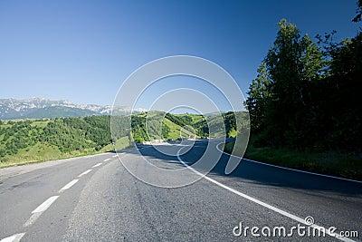 Transfagarasan road in Romania