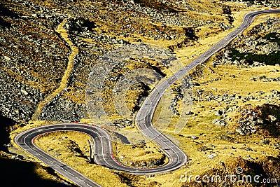 Transfagarasan Road in the Transylvanian Alps