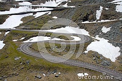 The Transfagarasan winding road in Romania