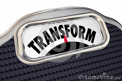 Transform Scale Diet Lose Weight Improve Health Transition Stock Photo