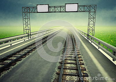 Transformation of motorway to ecological rail transport