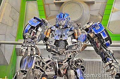 Transformer Autobot at Universal Studio Singapore Editorial Photo