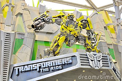 Transformer The Ride Editorial Stock Image