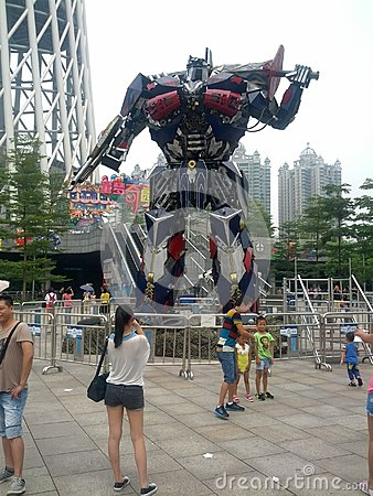 Transformers show in Guangzhou Editorial Image