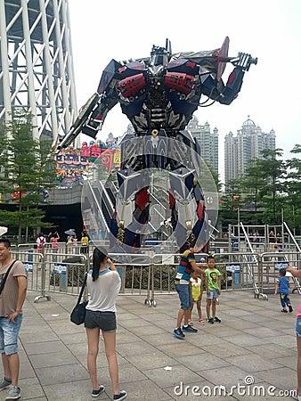 Transformers show in Guangzhou Editorial Image