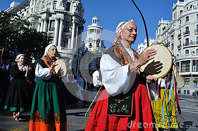 Transhumance in Madrid - Spain Editorial Stock Image