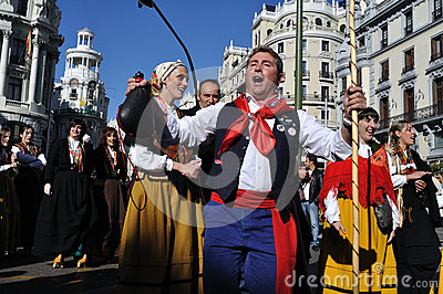 Transhumance in Madrid - Spain Editorial Image