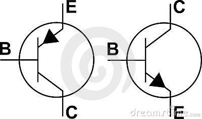 Transistor NPN PNP symbols