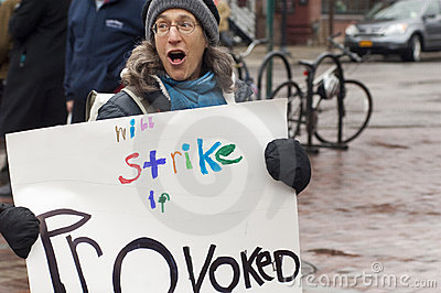 Transit Protest Editorial Stock Image