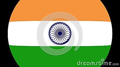 Transition 4K de drapeau d'Inde banque de vidéos