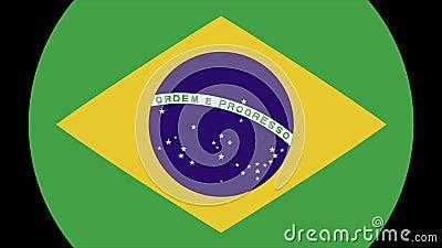 Transition 4K de drapeau du Brésil banque de vidéos