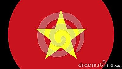 Transition 4K de drapeau du Vietnam banque de vidéos