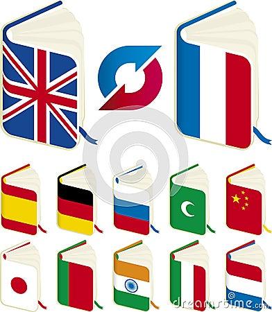 Free Translation Books Royalty Free Stock Photography - 7063177