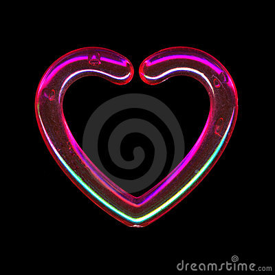 Translucent pink heart