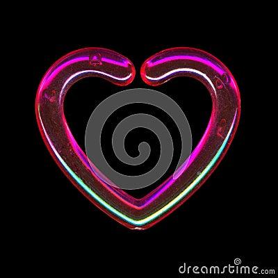 Translucent pink heart