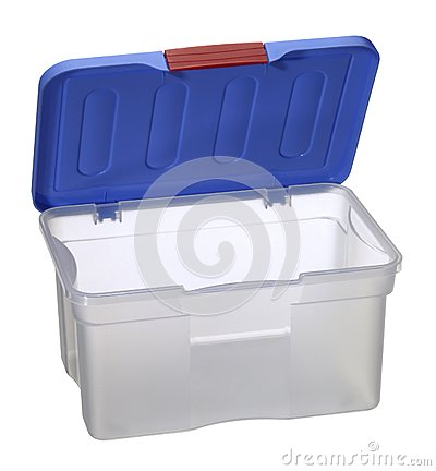 Free Translucent Plastic Box With Blue Top Stock Images - 31716374