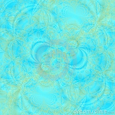 Transluscent abstract background in shades of aqua and gold
