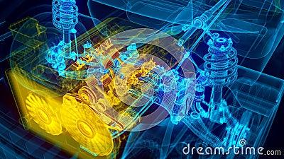 Transmission de moteur de voiture