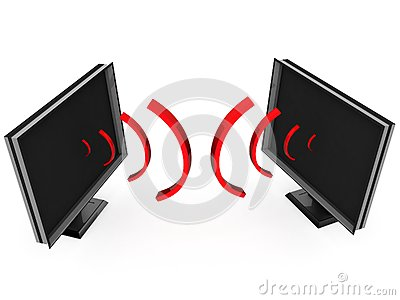 Transmission waves from plasma televisions