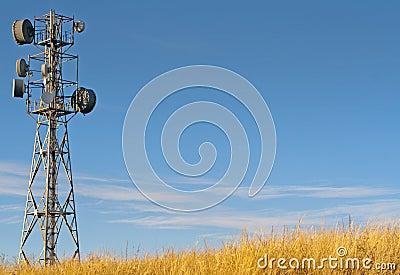 Transmitter tower against
