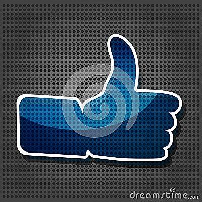 Transparency blue Like symbol