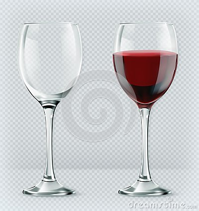 Free Transparency Wine Glass. Empty And Full. 3d Vector Icon Royalty Free Stock Image - 103267306