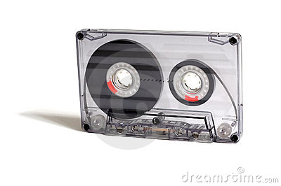 Transparent audiocassette