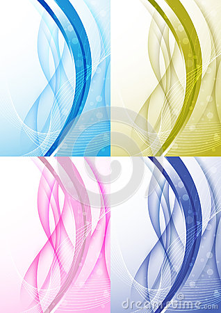 Transparent background with abstract wave