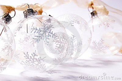 Transparent baubles