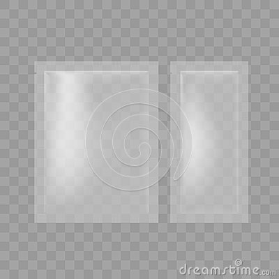 Free Transparent Blank Foil Pouch Packaging For Salt, Sugar, Sachet Stock Photos - 79700523