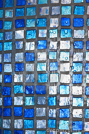Transparent blue square texture with water drops