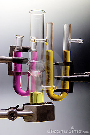 Transparent chemical glassware