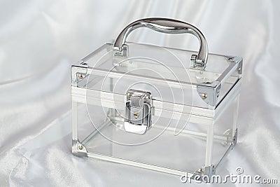 Transparent chest with chrome details