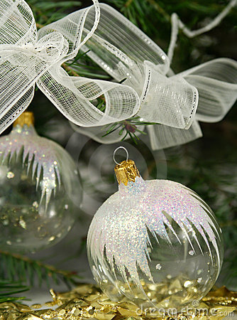 Transparent christmas ornaments