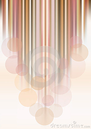 Transparent circles on colored striped background