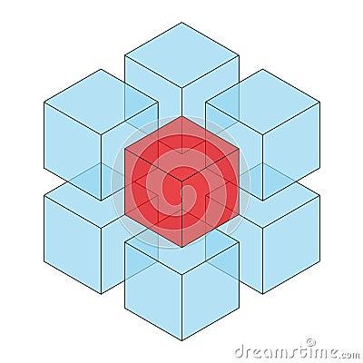 Free Transparent Cube Stock Photos - 12420163