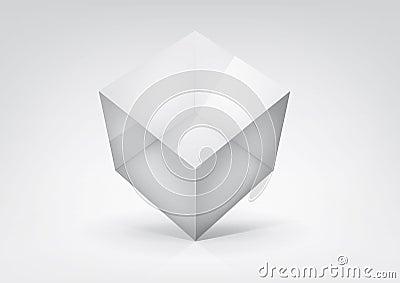 Transparent cube