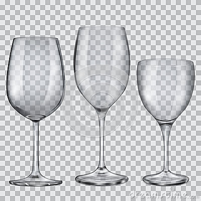 Free Transparent Empty Glass Goblets For Wine Royalty Free Stock Photos - 49433708