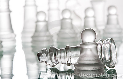 Transparent glass chess