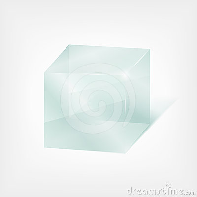 Free Transparent Glass Cube Royalty Free Stock Photography - 24329037