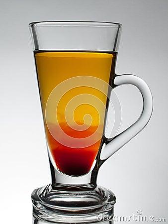 Transparent glass cup