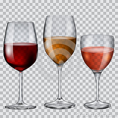 Free Transparent Glass Goblets With Wine Stock Photo - 49433770