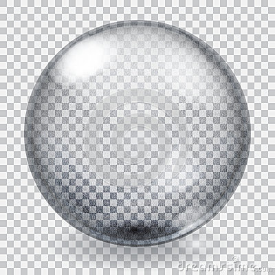 Free Transparent Glass Sphere With Scratches Stock Images - 44504204
