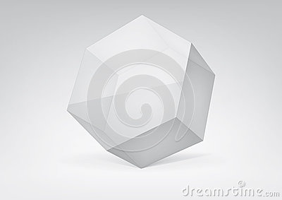 Transparent hexagonal prism