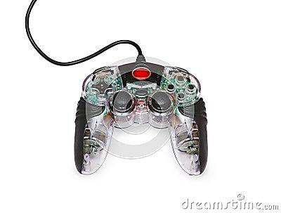 Transparent joystick for games